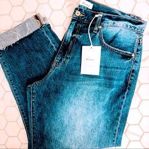 Kancan jeans high rise boyfriends crop jeans sz 32